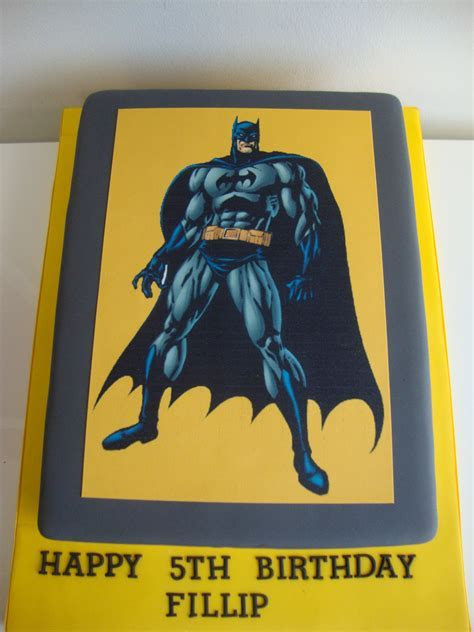 Batman Icing Print Cake   Celebration Cakes   Cakeology