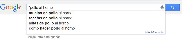 buscar palabras clave con Google