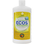Earth Friendly ECOS Cream Cleanser HeavyDuty Scrub & Polish Natural Lemon 24 oz.