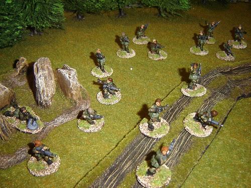 Troop advances