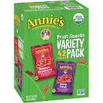 General Mills Annie's Organic Fruit Snack Variety Pack - 42 count, 34 oz carton