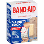 Band-Aid Adhesive Bandages, Variety Pack - 30 count