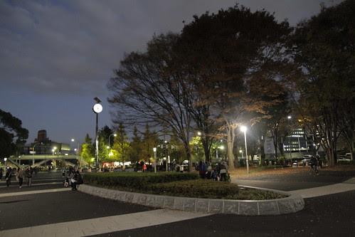 Autumn twilight at Yoyogi Park entrance
