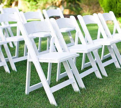 Luxury White Resin Folding Chair Wholesale Plastic Folding