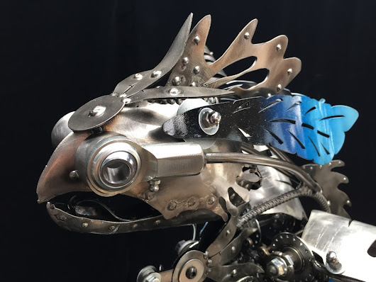 Kinetic Steampunk-Inspired Sculptures