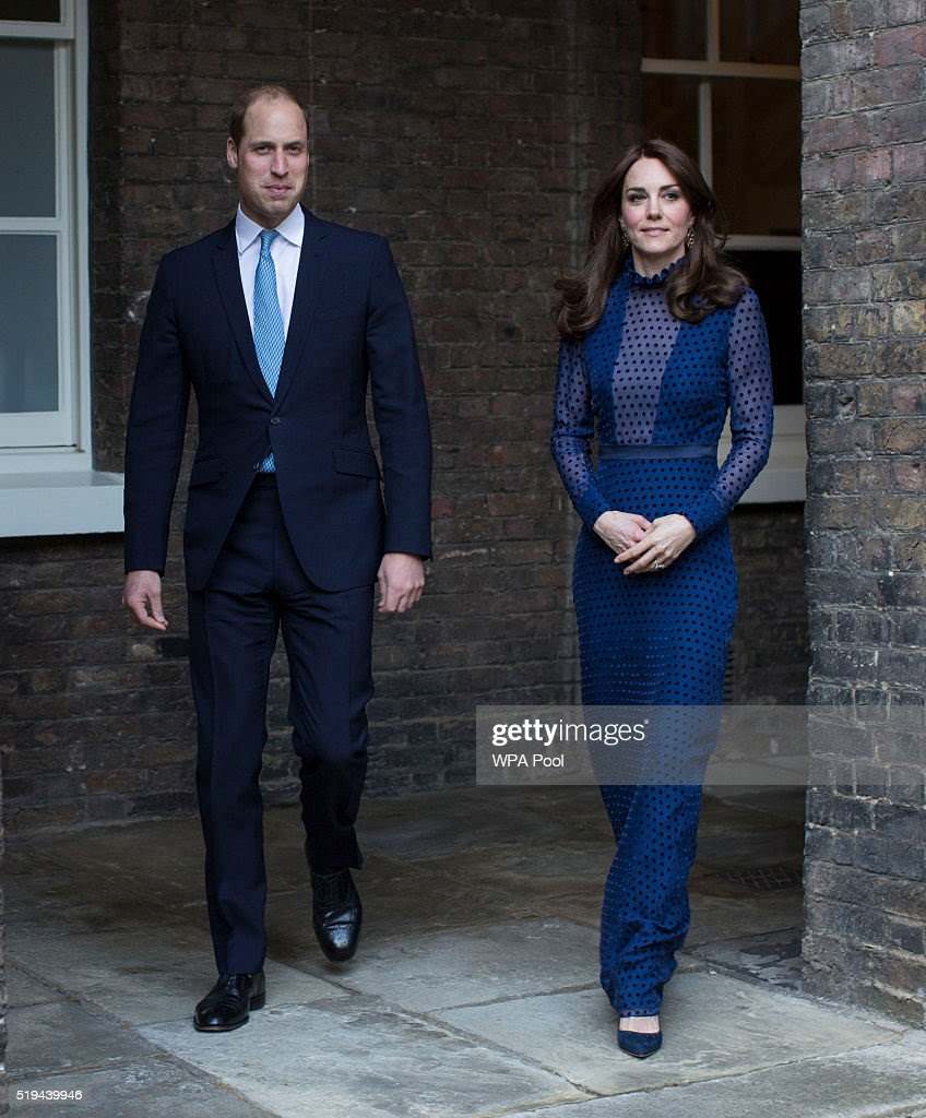 Prince William, Duke of Cambridge and Catherine, Duchess of Cambridge attend a reception ahead of their tour of India and Bhutan at Kensington Palace on April 6, 2016 in London, England.