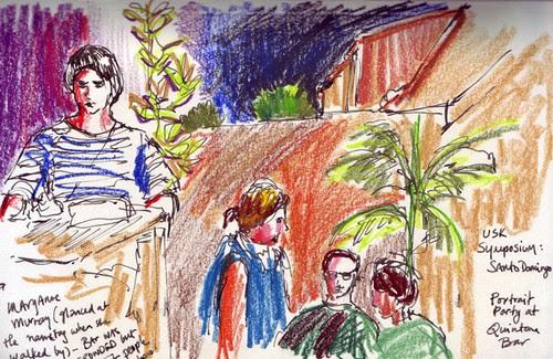 USK: Quintana Bar portrait party, Santo Domingo, Dominican Republic