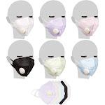 Juvale 12pcs Sponge Dust Respirator Masks Anti Pollution Face Mask w/Exhalation Valve, Grey