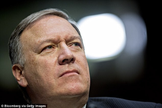 The threat was reported Tuesday in response to comments made by CIA Director Mike Pompeo (pictured) last week. He said Trump's administration needs to find a way to separate the country's Supreme Leader from their nuclear weapons