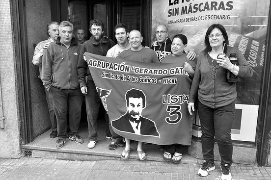 Ocupación de Impresora Polo, ayer. Foto: Federico Gutiérrez