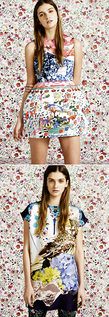 MARY KATRANTZOU FOR TOPSHOP MARY K PRINT DRESSES PANTS FLORALS BOWL SKINNY MIXED PRINTS 1