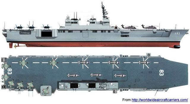 22DDH clase Izumo (DDH-183) Helicóptero Destroyer - JMSDF