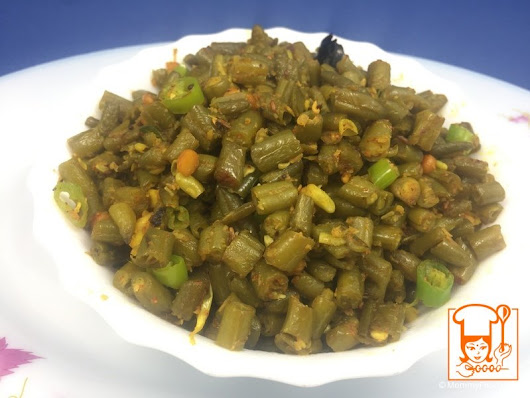 French Beans fry | Phaliyaan Fry - Step By Step Recipe With Photos | MommyFood.Com