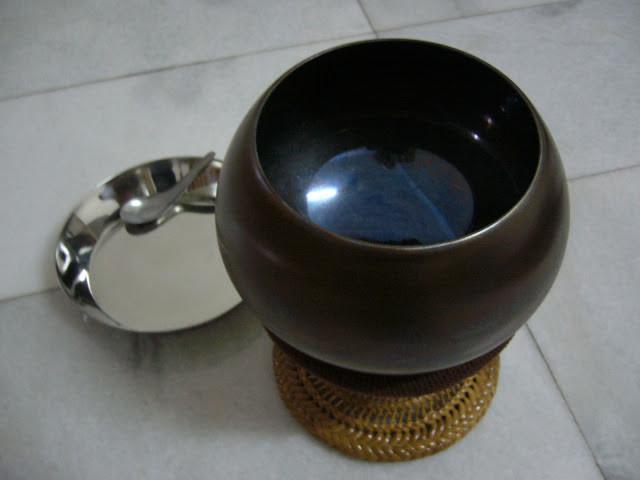 My alms bowl, a heavenly blue