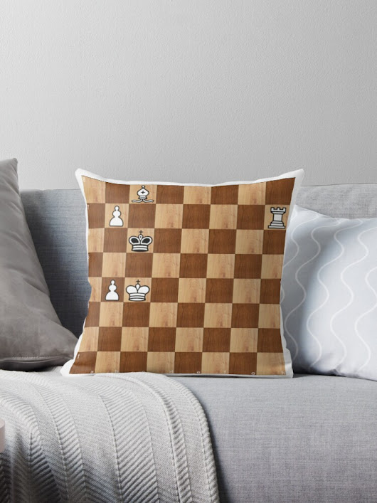 'Game of Chess, #bishop, #capture, #castle, #check, #checkmate, #chess, #chessboard, #chessman' Throw Pillow by znamenski