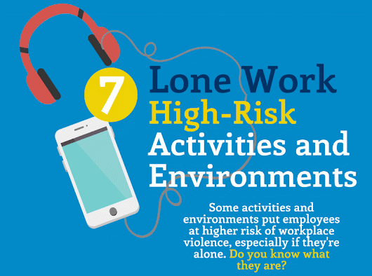 InfoGraphic: Working Alone - 7 High Risk Environments and 7 High Risk Activities | SafetyVantage