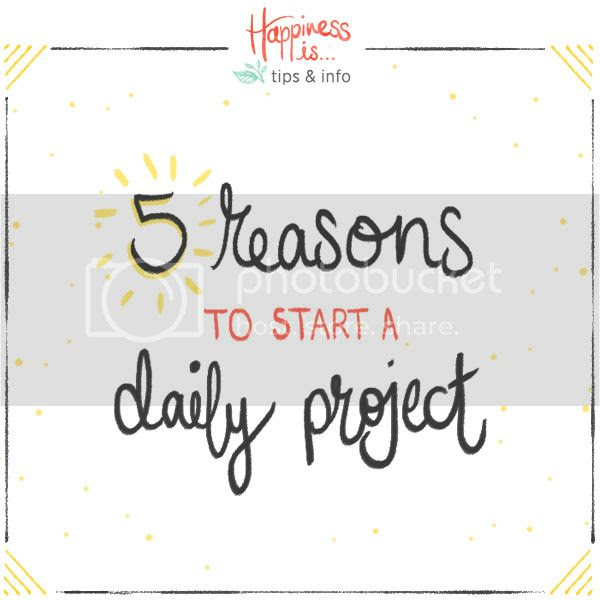 5 reasons to start a daily project - Happiness is... Daily Doodles