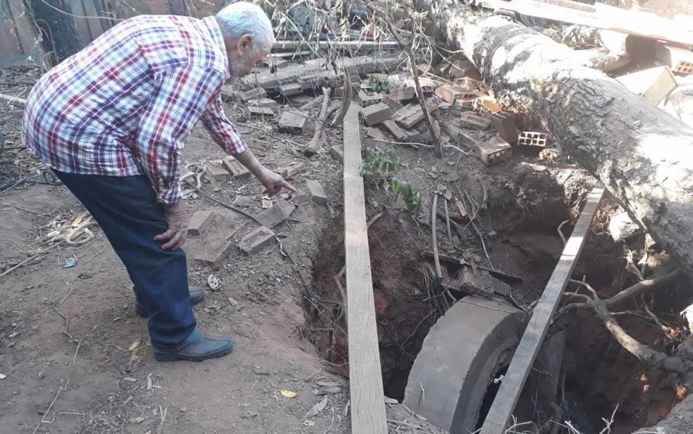 Pedro Pereira França ficou uma semana dentro de cisterna desativada (Foto: Thalles Pereira/ G1)