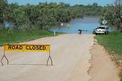Près de Fitzroy en Australie, inondation