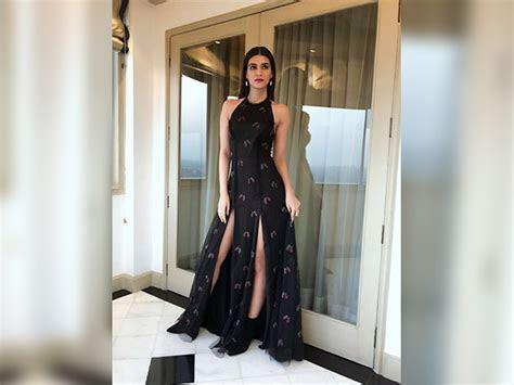 Kriti Sanon Shines In A Black Sunaina Khera Dress