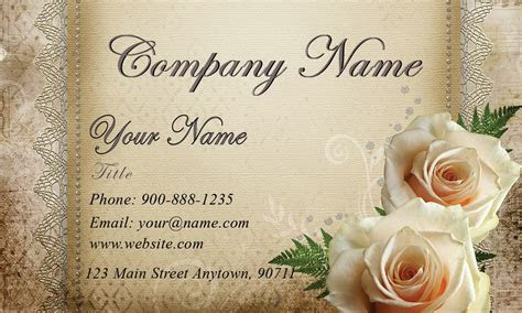 White Roses Wedding Floral Business Card   Design #701081