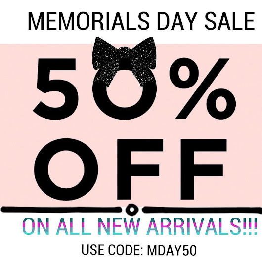 SALE! Get 50%off on all new arrival items💓 Use code MDAY50!✨ For a limited time only🌼 ➡️http://ift.tt/2r7H9Zg #memorialday #sale #50%off #fashion #style #accessories #clothing #floral #bag #boho #freegift #may #subscriptionaddict #subscriptionbox #subscriptionaddiction #fashionista #hanee21 #h21blog