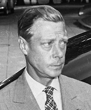 Photograph of the Duke of Windsor outside the ...