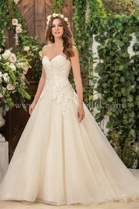 Jasmine Bridal Collection Style F181061 in Ivory/Gold