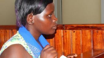 Jolly Tumuhirwe in court in Uganda, 8 December 2014