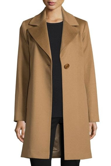 Fleurette Wool Felt Single Button Coat