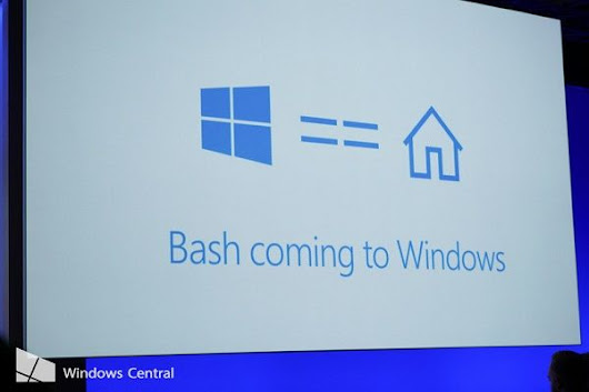 It's official now. Run #bash on Windows 10.