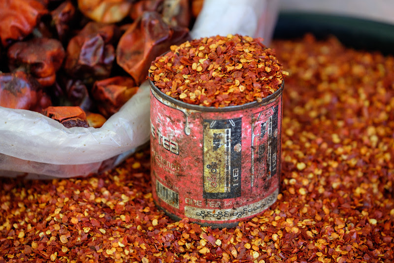 Chilly powder at the market