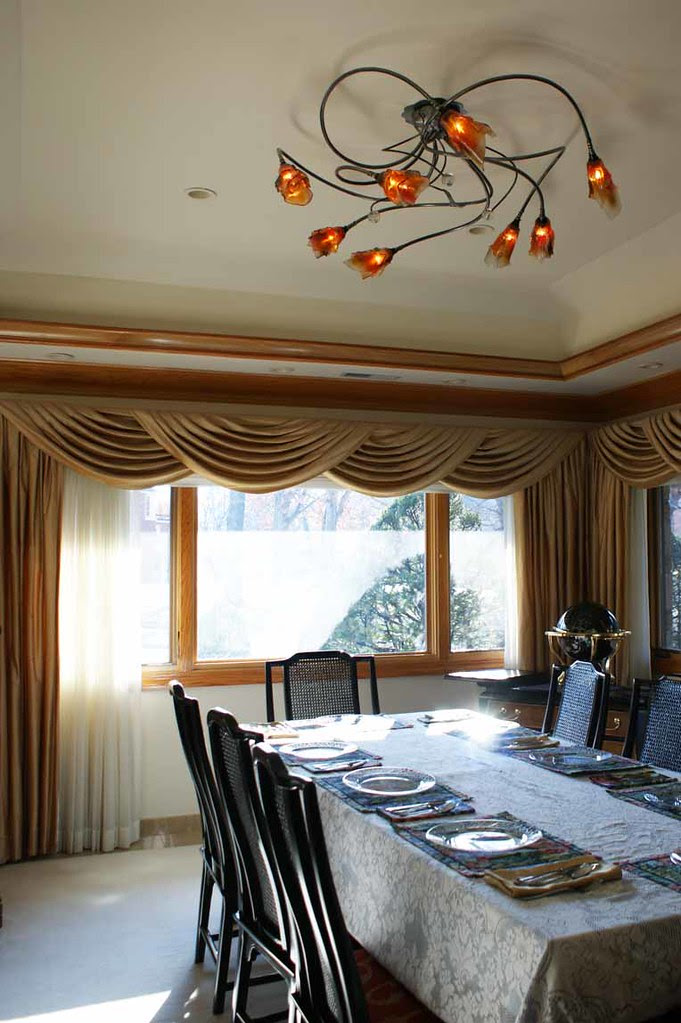 light fixture, dining room, private residence