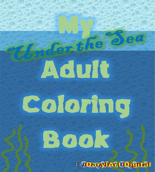 Adult Coloring book Under the Sea Instant download printable