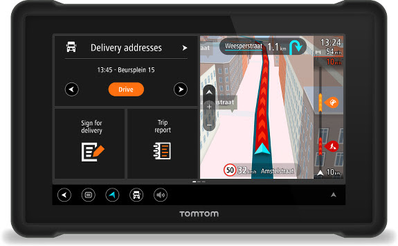 TomTom Bridge Android tablet for fleets