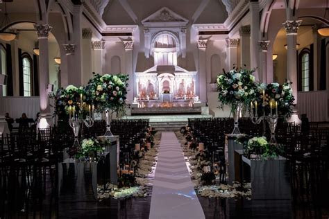 Candlelit Wedding At Vibiana   Flowers by Cina