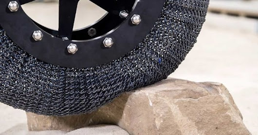 NASA's new airless titanium tires are almost indestructible