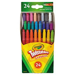 Crayola Twistables Mini Crayons, Wax, 24 Colors/Pack (CYO529724)