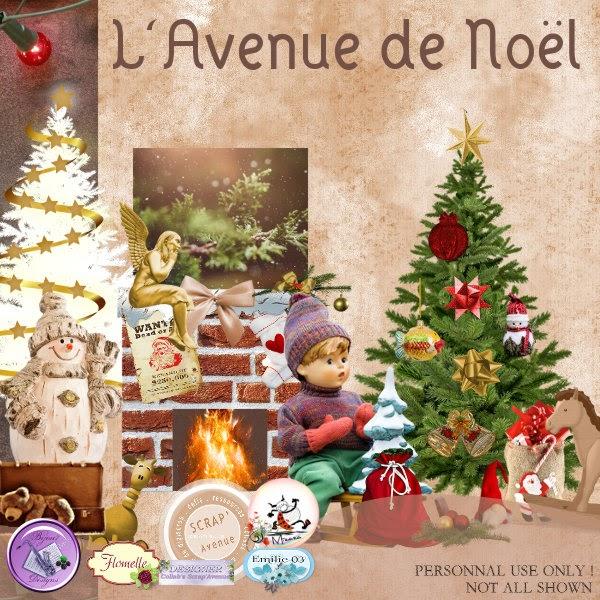 Scrap 39 avenue le blog freebie l 39 avenue de no l collab 23 - H m avenue de france ...