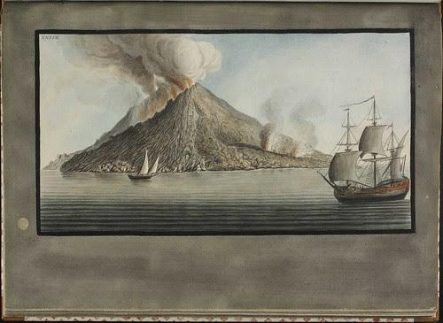 Plate 37, eruption on island of Stromboli