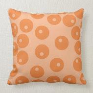 Funky orange retro pattern. throwpillow