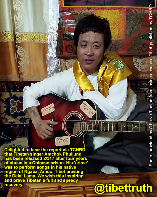 Tibetan Singer Released From Chinese Abuse Remains Resolute