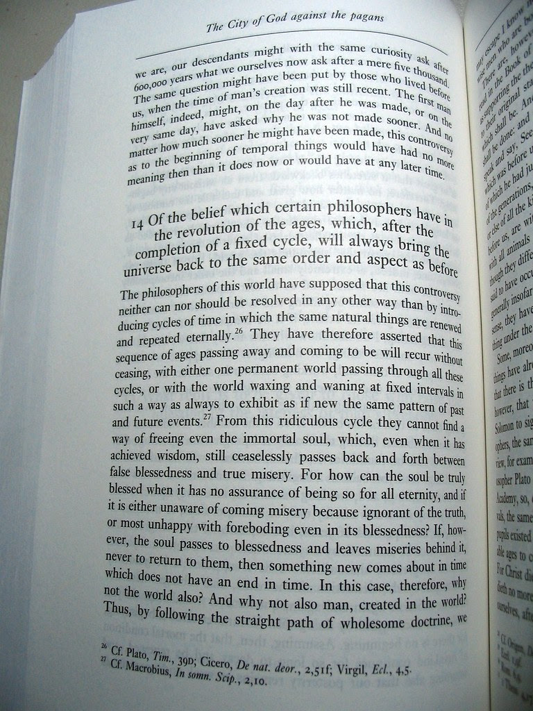 """Excerpt from """"The City of God against the pagans"""" - Dyson's translation of Augustine"""