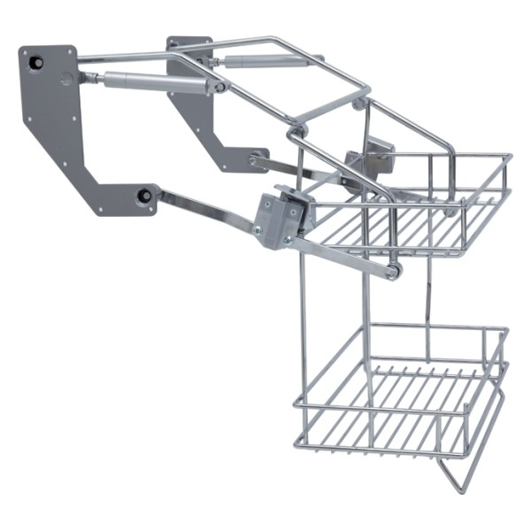 Vibo Pull Down Two Tier Wire Shelves - For 600mm Width ...