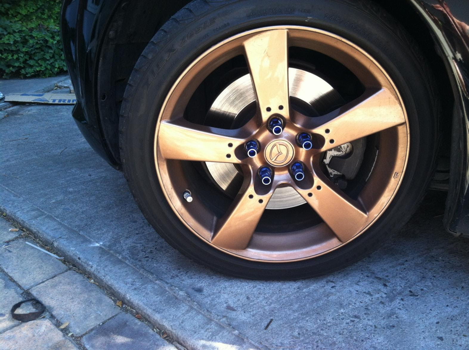 Fs Wtt Black Brown Interior Powder Coated Oem Wheels Rx8club Com