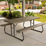 Outdoor Lifetime Products 6 ft. Folding Picnic Table - Brown