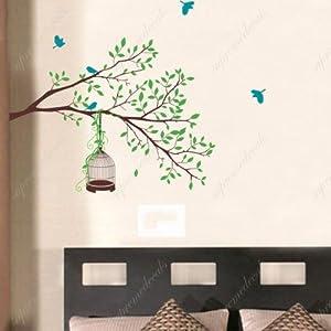 Amazon.com: Custom Color PopDecals - Happy Tree branch - nursery ...