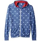 Alternative Eco Zip Hoodie Men's Sweatshirt Pacific Blue Stars : 2XL
