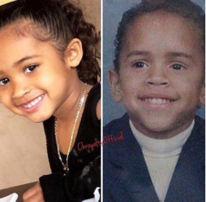 Aww! Royalty looks so much like her dad, Chris Brown when he was her age