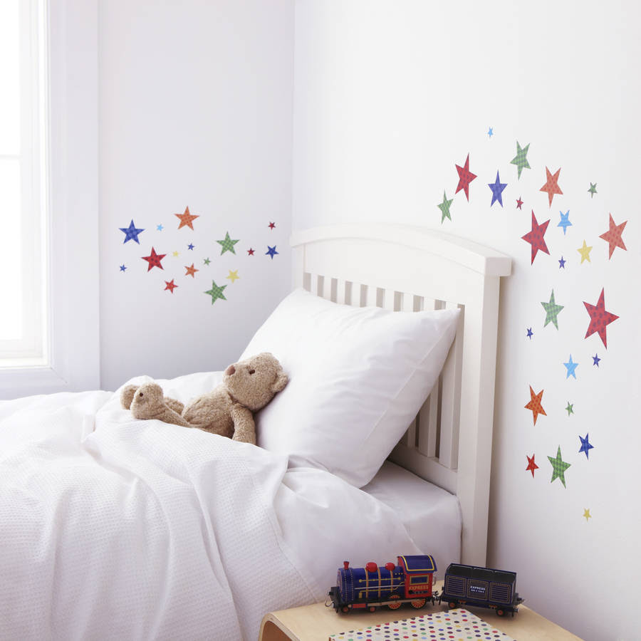 childrens bright star wall stickers by kidscapes  notonthehighstreet.com